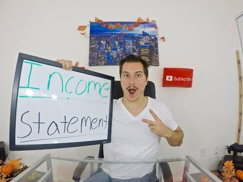 Income Statement Tutorial! - Reading an Income Statement!