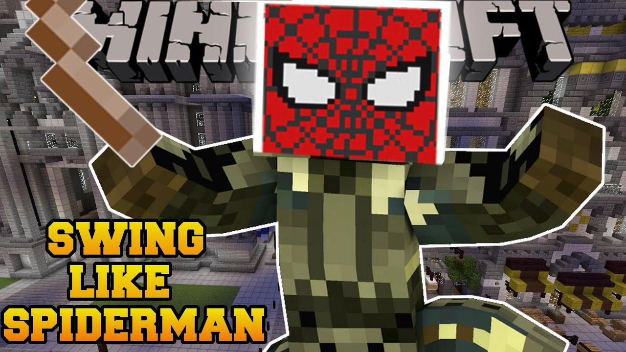 Minecraft Swing Around Like Spiderman Travel From Building To Building Mod Showcase Youtube