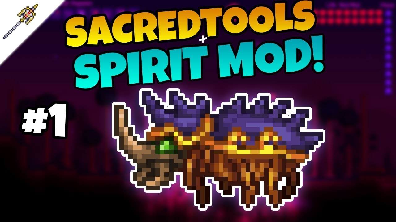 The Scarabeus Boss - SacredTools + Spirit Mod Let's Play ||Episode 1||