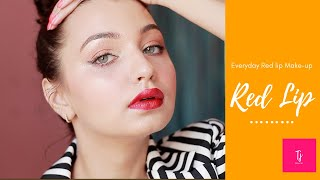Everyday RED Lip Make-up Tutorial | Statement Make-up Look |Day 19  Tejaswi