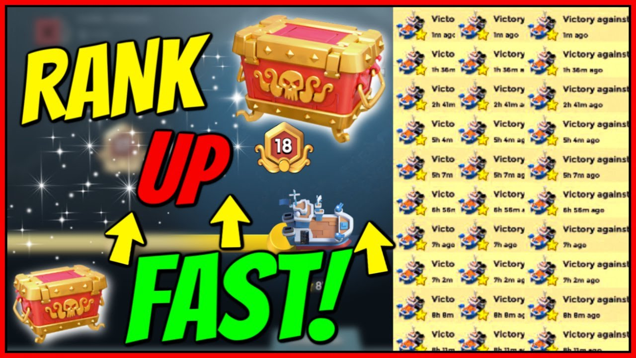 Rank Up Fast! BEST TIPS for Season 12! // Boom Beach Warships