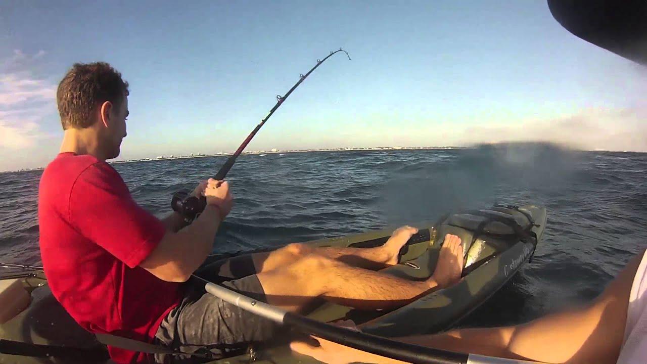Kayak fishing hammerhead shark youtube for Youtube kayak fishing