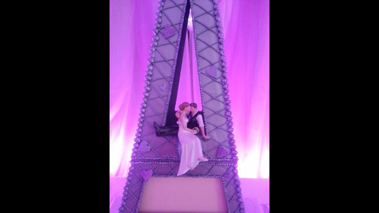 Eiffel Tower Wedding Cake Part 2 - YouTube