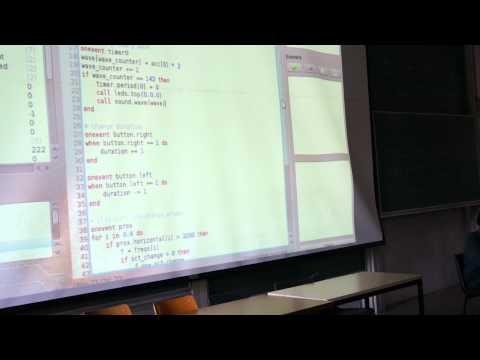 Aseba Programming demo with Thymio II Robot
