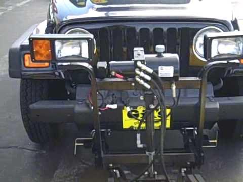 Plow For Jeep Wrangler >> 2006 Jeep Wrangler X with a Fisher Plow - YouTube