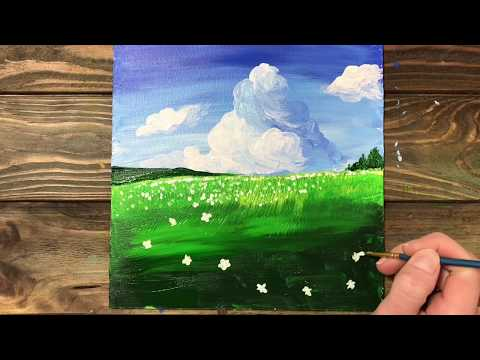 Flower Field / Simple Technique / Easy Abstract Painting / Daily Art Therapy #07