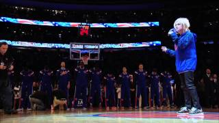thumbnail image for video: Cyndi Lauper sings the National Anthem - 2014