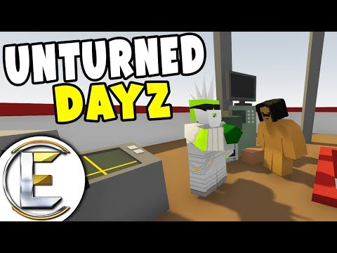 Safe Place! - Unturned Dayz RP Survival EP 3 (We Find a Burnt Out Helicopter and A Mega Zombie)