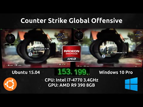 Ubuntu 15.04 VS Windows 10 Pro : CSGO Benchmark with an R9 390