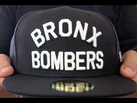 144efee36cf Yankees  BRONX BOMBERS  Navy Fitted Hat by New Era - YouTube