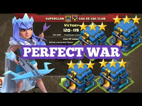 SUPERCLAN(54 Win Streak)vs CAU XE COC CLUB | PERFECT WAR | 40 TRIPLE Vs 39 TRIPLE | CLASH OF CLANS