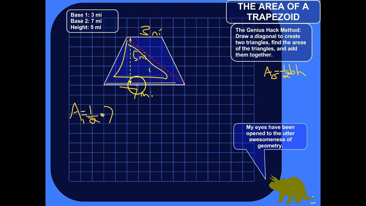 How To Find The Area Of A Trapezoid (genius Hack) How To Find The