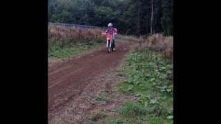 12 year old First time on A CR80 (Really fast)