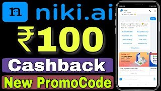 ₹100 Cashback On Prepaid Recharge,Niki App Recharge Offer 2019,Niki App New Promocode