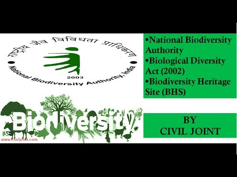 National Biodiversity Authority, Biological Diversity Act, Biodiversity Heritage Site BY CIVIL JOINT