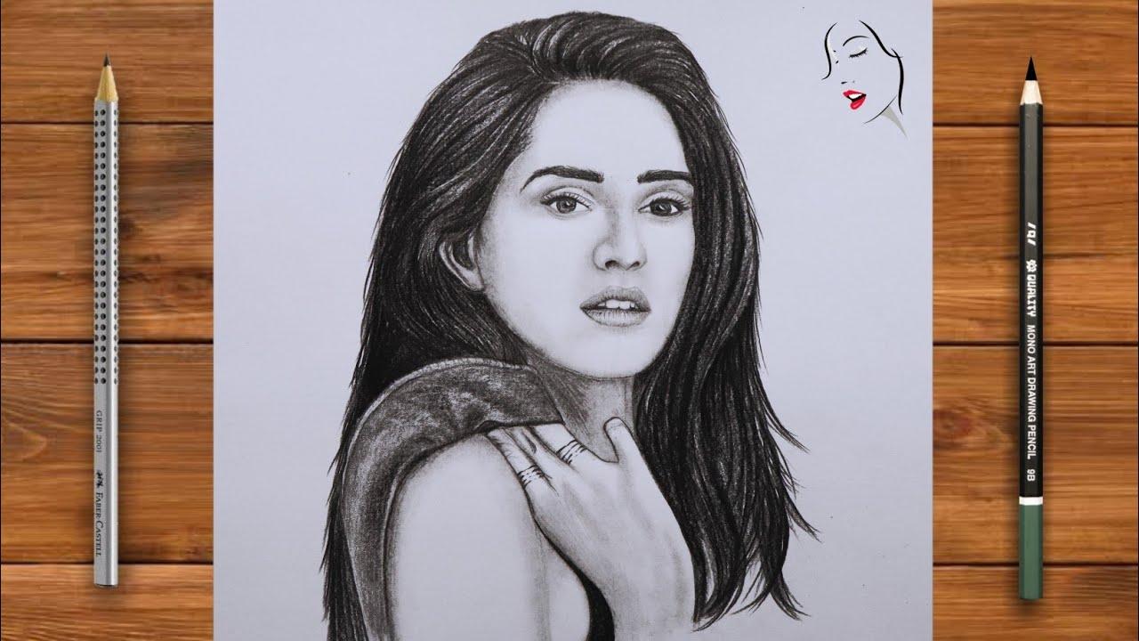 How to Draw Disha Patani step by step | Girl Drawing | Pencil Sketch | Disha Patani | Crazy Sketcher