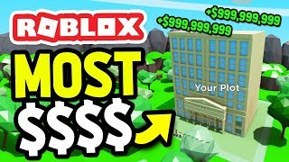 I GOT THE MOST EXPENSIVE BUILDING in ROBLOX CONSTRUCTION SIMULATOR
