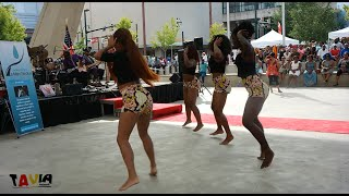Ivory Coast (Cote D'Ivoire) Independence Day Celebration Girls Group Dance