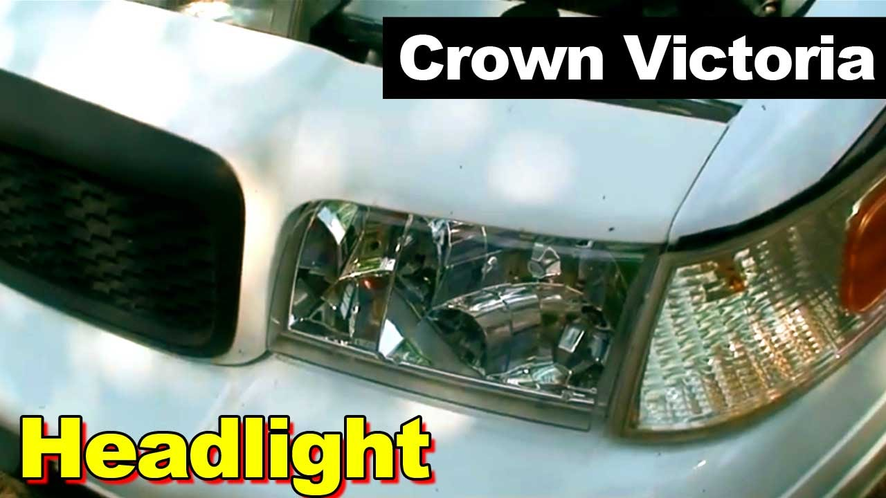 2003 ford crown victoria headlight head lamp how to install same as 2003 thru 2011 crown vic youtube [ 1280 x 720 Pixel ]