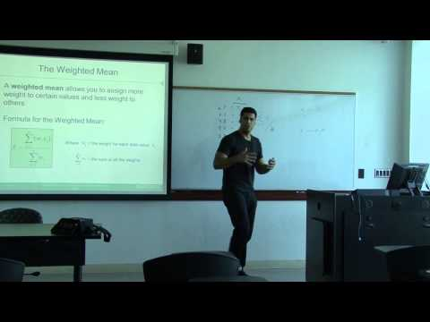 Statistics Lecture 2014 part 1 - mean, average, median, mode