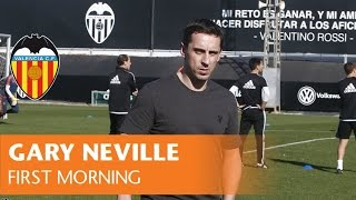 Gary Neville's First Morning As The New Coach Of Valencia CF At Paterna