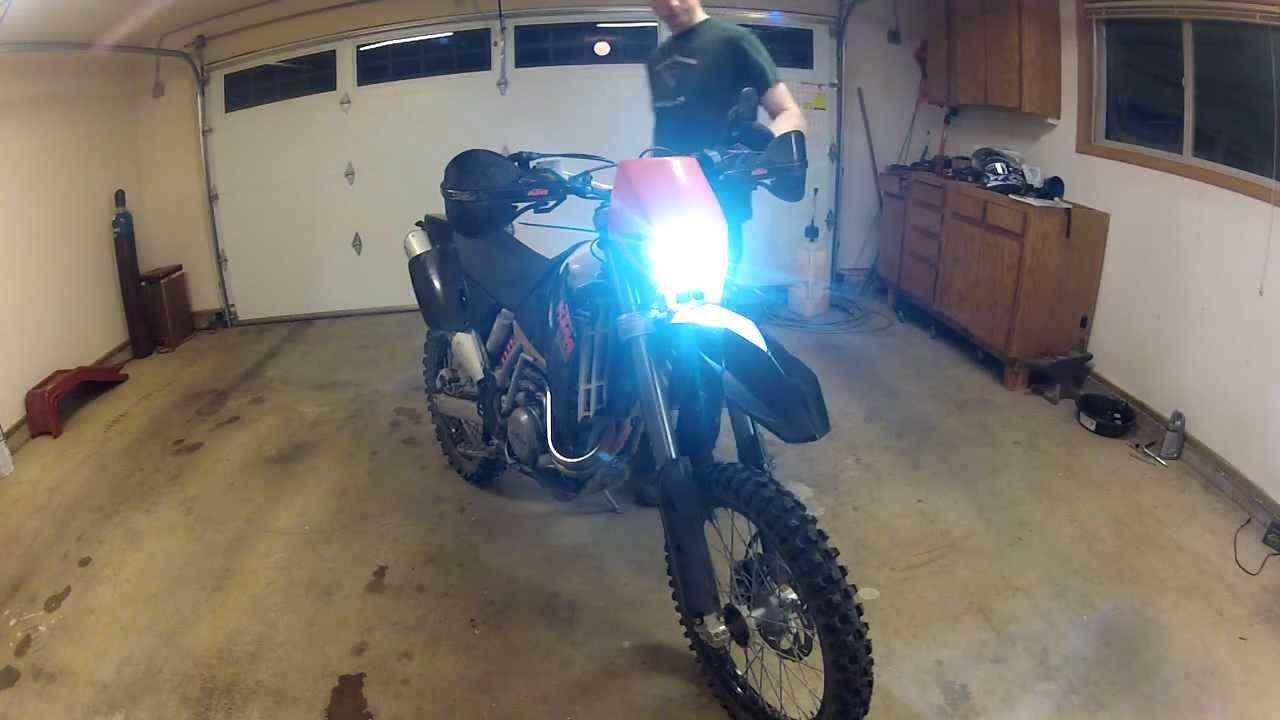 KTM HID headlight conversion test