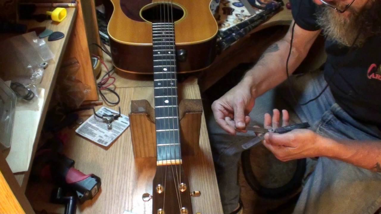 Guitar Nut Adjustment Nut First Fret Action Made Easy By Randy