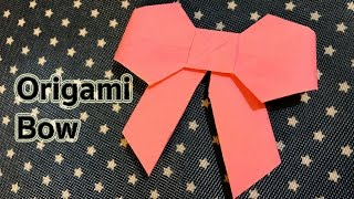 Origami : How to fold a paper Bow / Ribbon