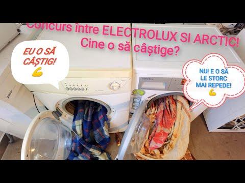 Concurs între Electrolux și Arctic program rapid / Washing machine race / 30min /39min