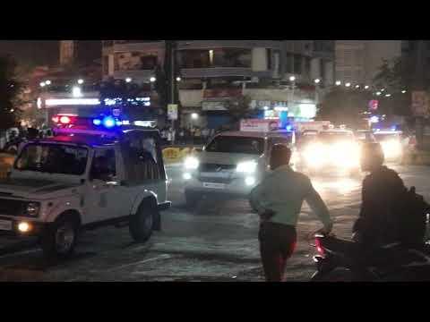 Maharashtra CM Devendra Fadnavis convoy | Z+ Security | Mumbai