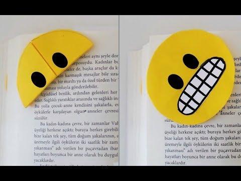 Çİft Yönlü Kullanabileceğiniz Emoji Kitap Ayraçları   Bookmark Craft