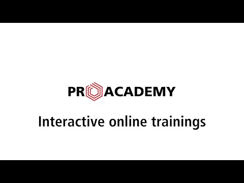 Interactive online trainings   PRO ACADEMY Training