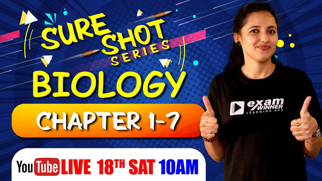 Download Plus One Exam 2021 | Biology | Sure Shot Series | Day 2 | Biology Focus Area Chapter 1 - 7 | Exam