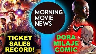 Avengers Infinity War Ticket Sales Record, Dora Milaje Comic Book Mini-Series