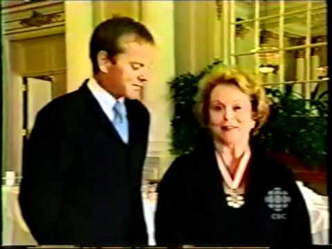Kiefer Sutherland And Shirley Douglas (Officer of the Order of Canada) 2003