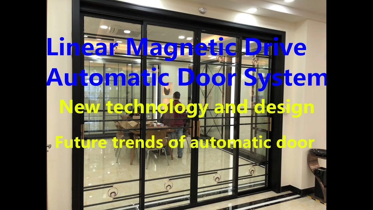 New Innovation Automatic Door Linear Drive Magnetic Sliding Door
