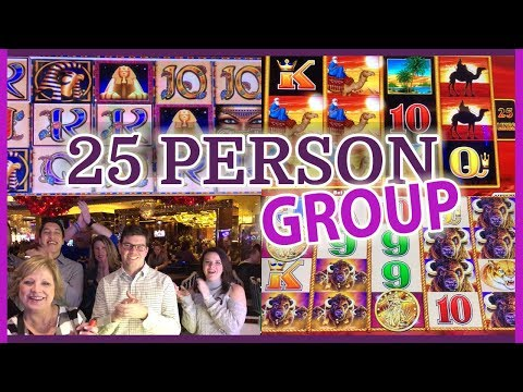 💰🎰 $5,000 Group Slot Pull with 25 Fans! 👫 ✦ Cosmopolitan Casino ✦  Slot Machine Pokies w Brian C