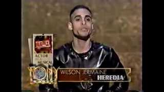 Wilson Jermaine Heredia wins 1996 Tony Award for Best Featured Actor in a Musical