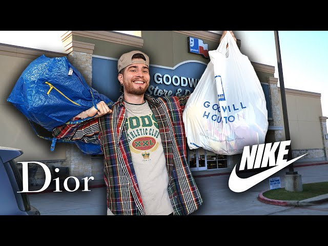 I Found Dior in the Thrift Store!! Crazy Nike Sneakers & More! Trip to the Thrift