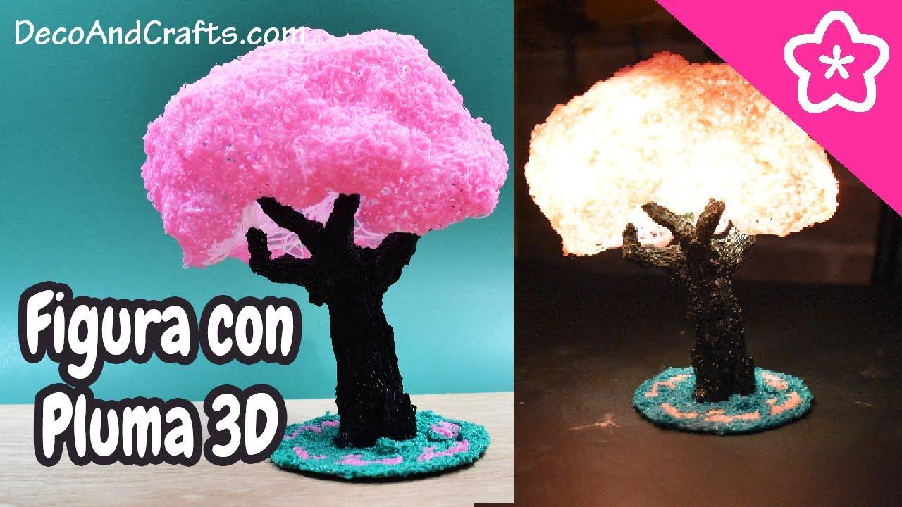 Impresión Con Pluma 3D Figura Arbol De Cerezo Con 3D Pen