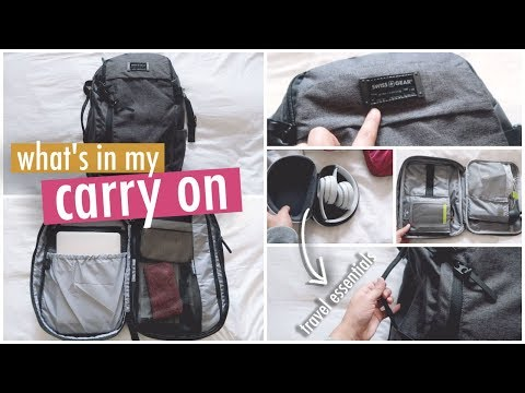 WHAT'S IN MY CARRY ON ~ TRAVEL + PLANE ESSENTIALS