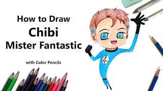 How to Draw Chibi Mister Fantastic Step by Step - very easy