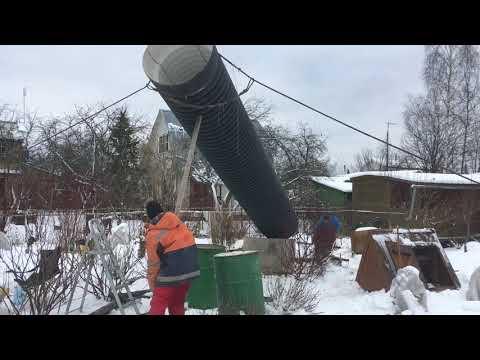 Podkapaev.ru Установка вечного колодца в зимний период