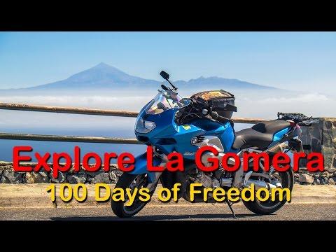 Exploring La Gomera with a Motorbike - Full HD 1080p - GoPro 4 Black Edition