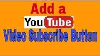 how to add a subscribe button on youtube video | Bangla tutorial
