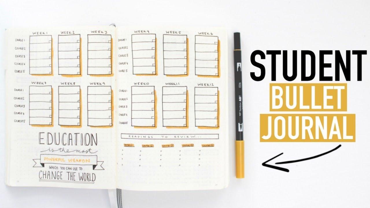 Bullet Journaling FOR STUDENTS   DIY University & High ...