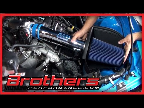 2011-2014  Mustang V6 BBK Performance Cold Air Intake Kit Install & Dyno Test