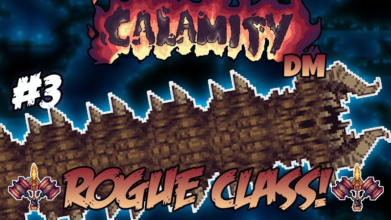 Desert Scourge + Sunken Sea biome Calamity Death Mode Rogue Class Let's  Play ||Episode #3||
