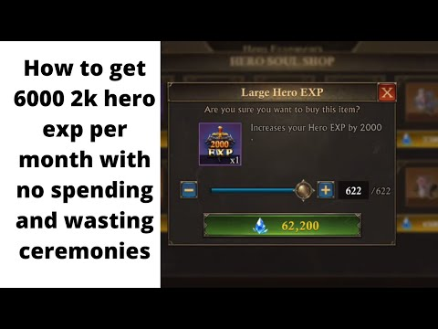 KING OF AVALON: How to get 6000+ 2k hero exp per month without spending and wasting ceremony coins