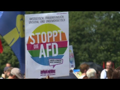Anti-AfD protesters demonstrate in Berlin
